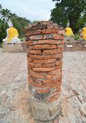 Buddha statues at the temple of wat yai chai mongkol in ayutthaya near bangko Stock Photos