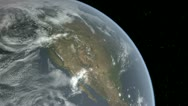 Stock Video Footage of North America From Space - Day and Night HD