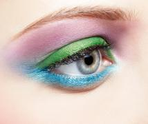 eye shadow make up - stock photo