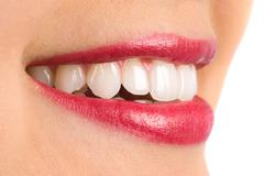 toothy smile - stock photo