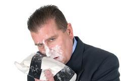 Drug addict businessman Stock Photos