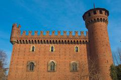 castello medievale, turin, italy - stock photo