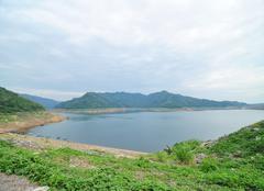prakarnchon khun dan dam, nakhon nayok, thailand. - stock photo