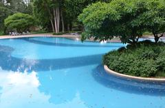 Stock Photo of part of swimming pool with blue water
