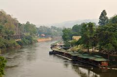 Kwa river in kanchanaburi, thailand Stock Photos