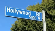 Hollywood Blvd Sign Stock Footage