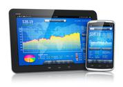Stock Illustration of Stock market on mobile devices