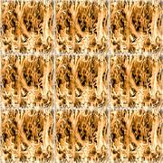 Stock Illustration of fiery tile
