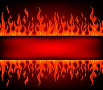 Fire stripe with free space Stock Illustration