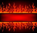 Stock Illustration of Fire stripe with free space
