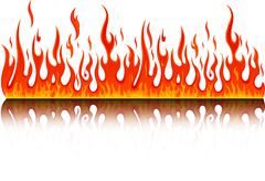 fire - stock illustration
