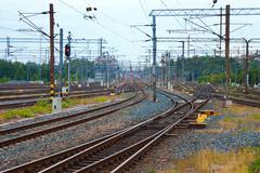 Railroad communication - stock photo