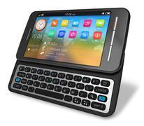 Side slider touchscreen smartphone Stock Illustration