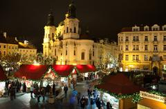 christmas in oldtown square - stock photo