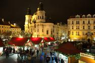 Stock Photo of christmas in oldtown square