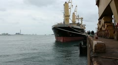 Cargo jetty Stock Footage