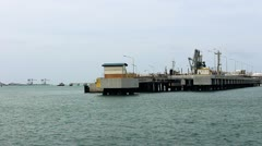 Chemical jetty Stock Footage