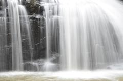 Stock Photo of part of a waterfall taken with a slow shutter speed to smooth the water
