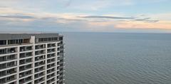condominium sea view overlooking hua hin thailand - stock photo