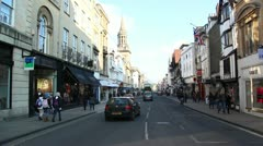 Oxford High Street Stock Footage