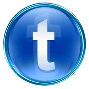 Twitter icon blue, isolated on white background Stock Illustration