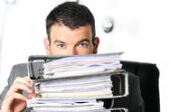 Stock Photo of busy man at work