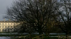 Cambridge pan winter Stock Footage