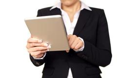 Businesswoman with digital tablet Stock Photos