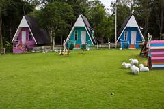 Colorful bungalow Stock Photos