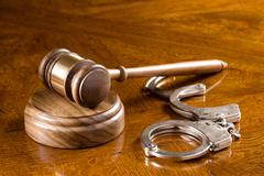 Stock Photo of gavel and handcuffs