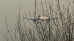 Passenger plane airport landing - Lufthansa A319 D-AILE 1920x1080 Stock Footage