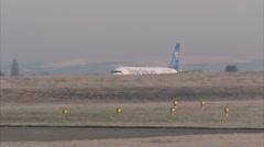 Passenger plane airport takeoff - Thomas Cook A321 G-NIKO 1920x1080 Stock Footage