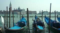 Blue gondolas Stock Footage