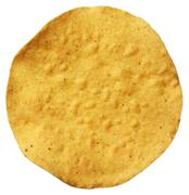 Corn tostada isolated on white background Stock Photos