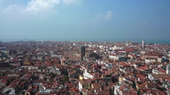 Rooftops in Venice - stock footage