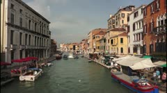 Venice canal Stock Footage