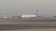 Passenger plane airport takeoff - Thomas Cook B757, g-jwaa 1920x1080 Stock Footage