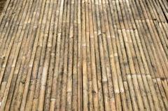 bamboo slats bound together - stock photo