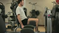 In the Gym: Weightlifting 14 Stock Footage