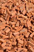 group of bricks square construction materials - stock photo