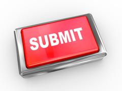 3d submit button Stock Illustration