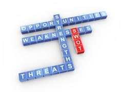 crossword of swot - stock illustration