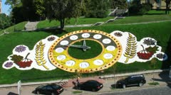 Floral Clock Timelapse Stock Footage
