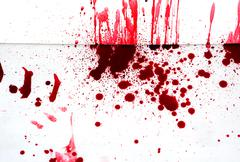 halloween concept : blood splatter - stock photo