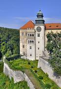 castle pieskowa skala in poland - stock photo