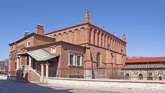 synagogue in krakow - stock photo