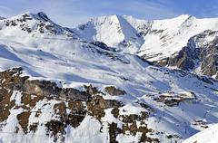 ski station near hintertux glacier - stock photo