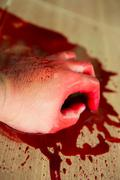 Stock Photo of halloween concept : hand in blood