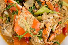 chili crabs - stock photo