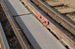 View above of railway in thailand Stock Photos